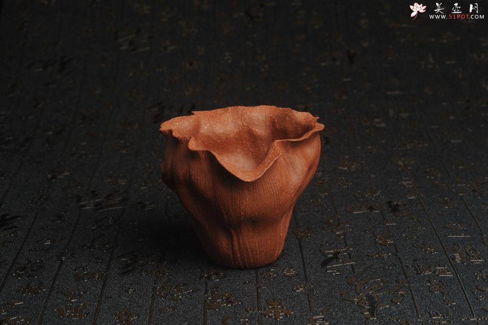 紫砂壶图片:特惠精致降坡泥荷叶公道杯 特文气 茶人醉爱 - 宜兴紫砂壶网
