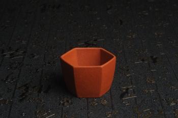 紫砂壶图片:特好降坡泥精致手工六方杯 茶人醉爱 性价比高 - 宜兴紫砂壶网