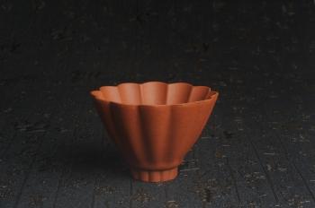 紫砂壶图片:美杯特惠 超精工厚实特好降坡泥菱花杯 主人杯 - 宜兴紫砂壶网