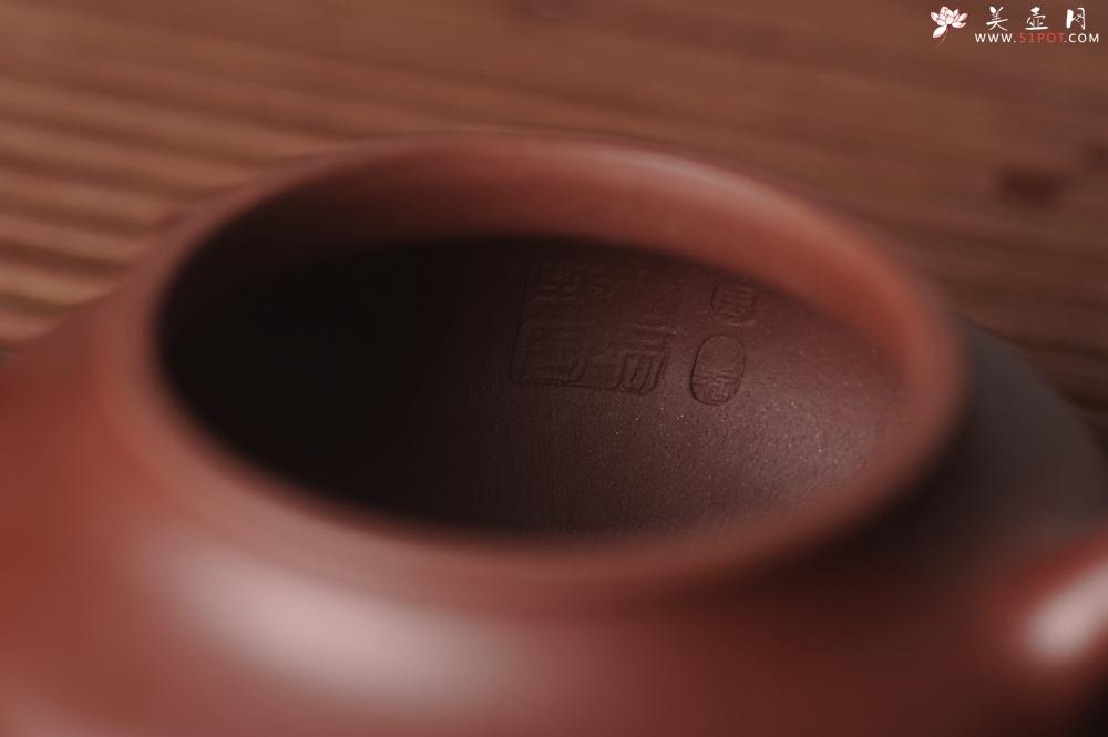 紫砂壶图片:油润黄龙山4号深井红皮龙 全手工摹顾景舟高虚扁 做工特好 - 宜兴紫砂壶网