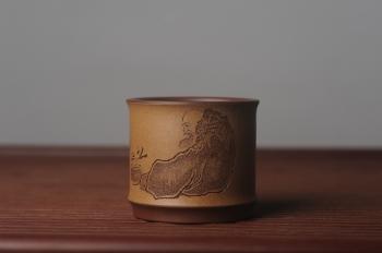 紫砂壶图片:美杯国庆特惠 精品好泥好工好刻雅致特厚实达摩主人杯 茶人醉爱 - 宜兴紫砂壶网