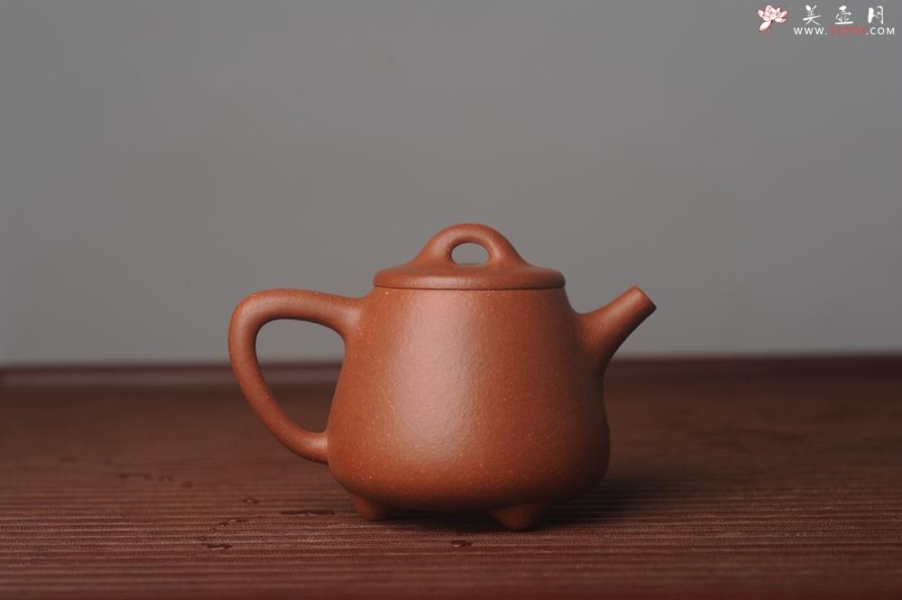 紫砂壶图片:美壶特惠  精工红降坡泥高石瓢 茶人醉爱 - 宜兴紫砂壶网