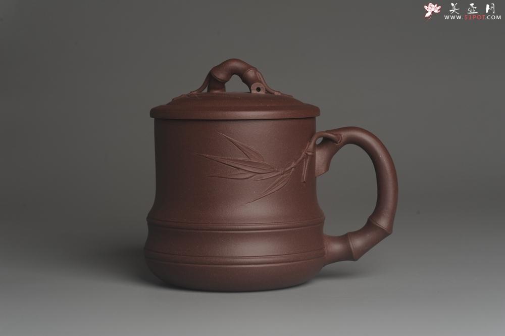 紫砂壶图片:美杯年底特惠 精工好料优质紫泥竹节杯盖杯 送礼自用佳品 - 宜兴紫砂壶网