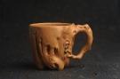 美杯精品特惠 实力演绎全手工老黄段泥松鼠杯 松鼠灵动 贴叶生动 不失为一把好杯-宜兴紫砂壶网