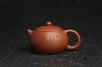 紫砂壶图片:油润降坡泥全手工小品西施壶 装饰居不可无竹 特文气 - 宜兴紫砂壶网