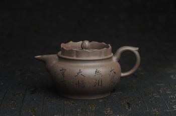 紫砂壶图片:美壶特惠 优质青灰段泥精致僧帽壶 茶人醉爱 - 宜兴紫砂壶网
