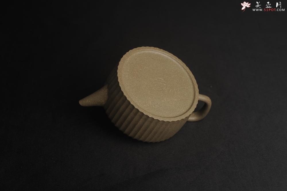 紫砂壶图片:美壶特惠 精致青段剑流德中壶 茶人醉爱 - 宜兴紫砂壶网