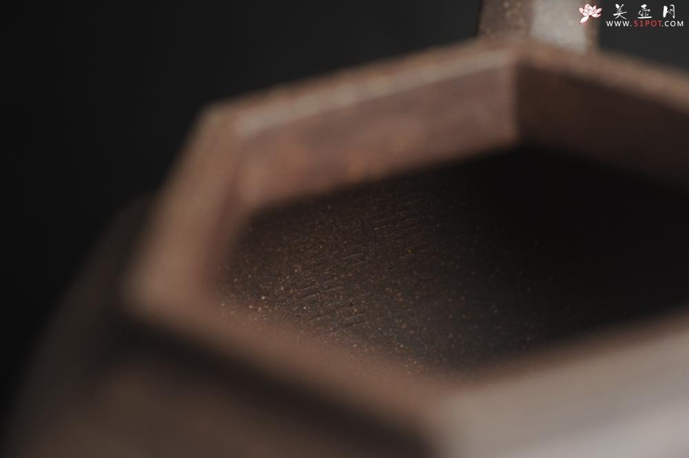 紫砂壶图片:实力派张海艳全手工特好老青灰段泥六方笑樱壶 做工灰常精致 气韵流畅 - 宜兴紫砂壶网