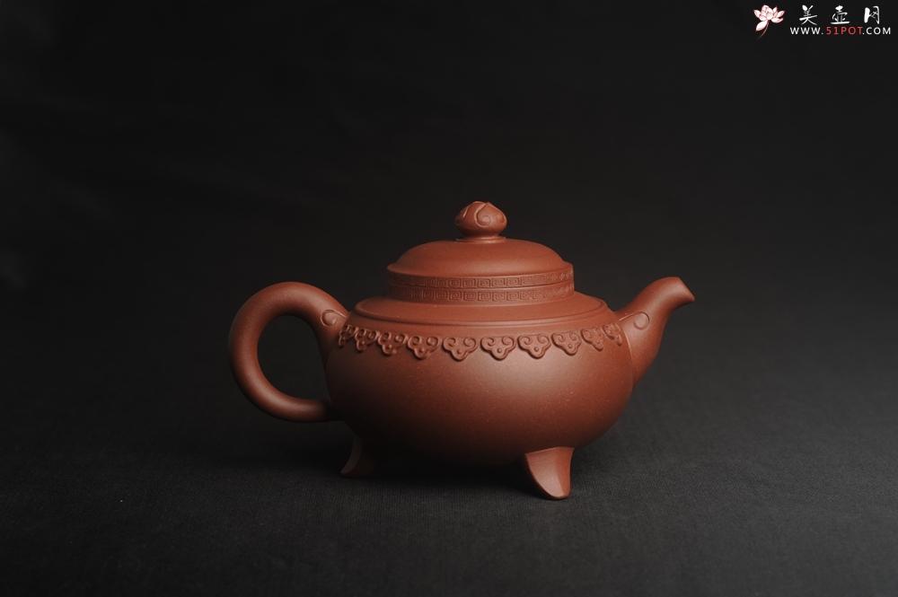 紫砂壶图片:美壶特惠 精致特好底曹青云肩如意壶 仅一只 - 宜兴紫砂壶网