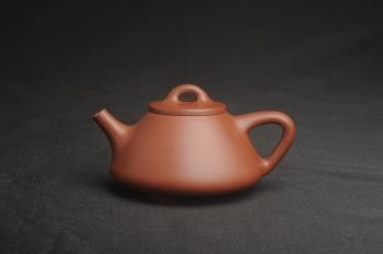 紫砂壶图片:特好底曹青全手工小品子冶石瓢茶壶 特文气 - 宜兴紫砂壶网