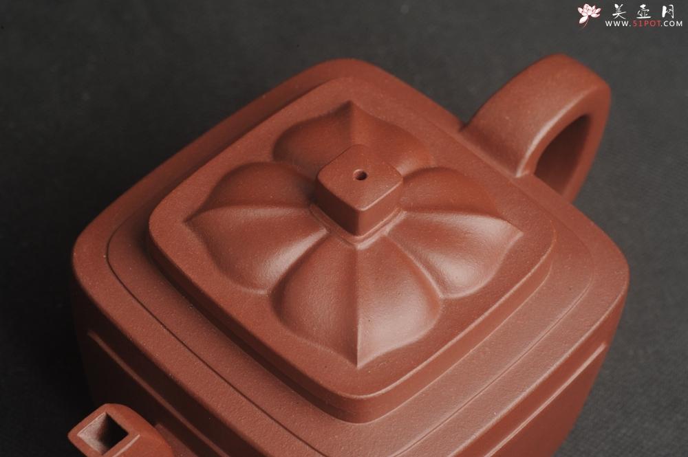 紫砂壶图片:美壶特惠 全手工优质紫红泥精致四方菱花壶 特文气 - 宜兴紫砂壶网