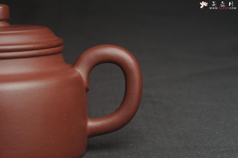 紫砂壶图片:油润黄龙山4号深井红皮龙 全手工德中壶 做工特好 - 宜兴紫砂壶网