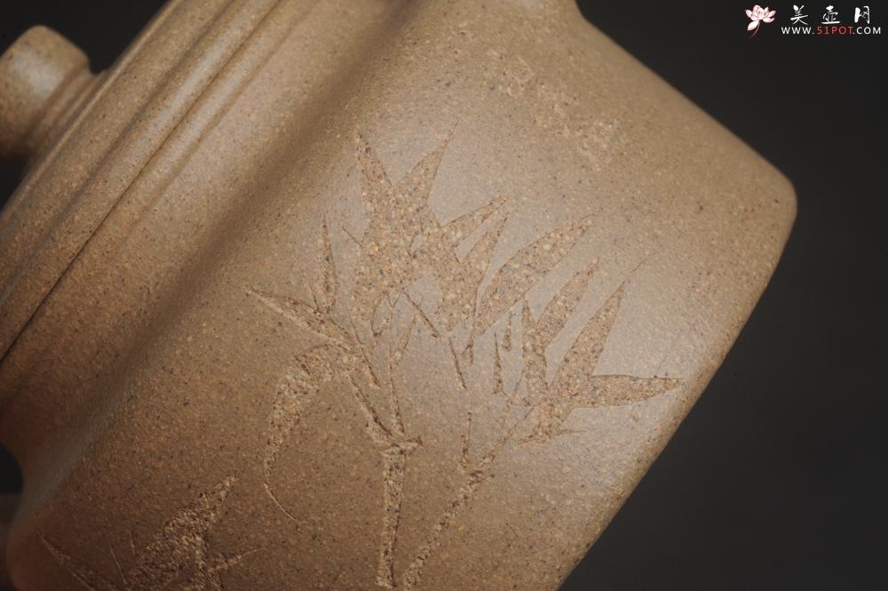 紫砂壶图片:高温油润黄龙山本山老段泥 全手工德中壶 做工特好 居不可无竹竹笛清风 - 宜兴紫砂壶网