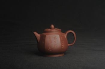 紫砂壶图片:美壶特惠 优质紫泥精工六方华樽壶 - 宜兴紫砂壶网