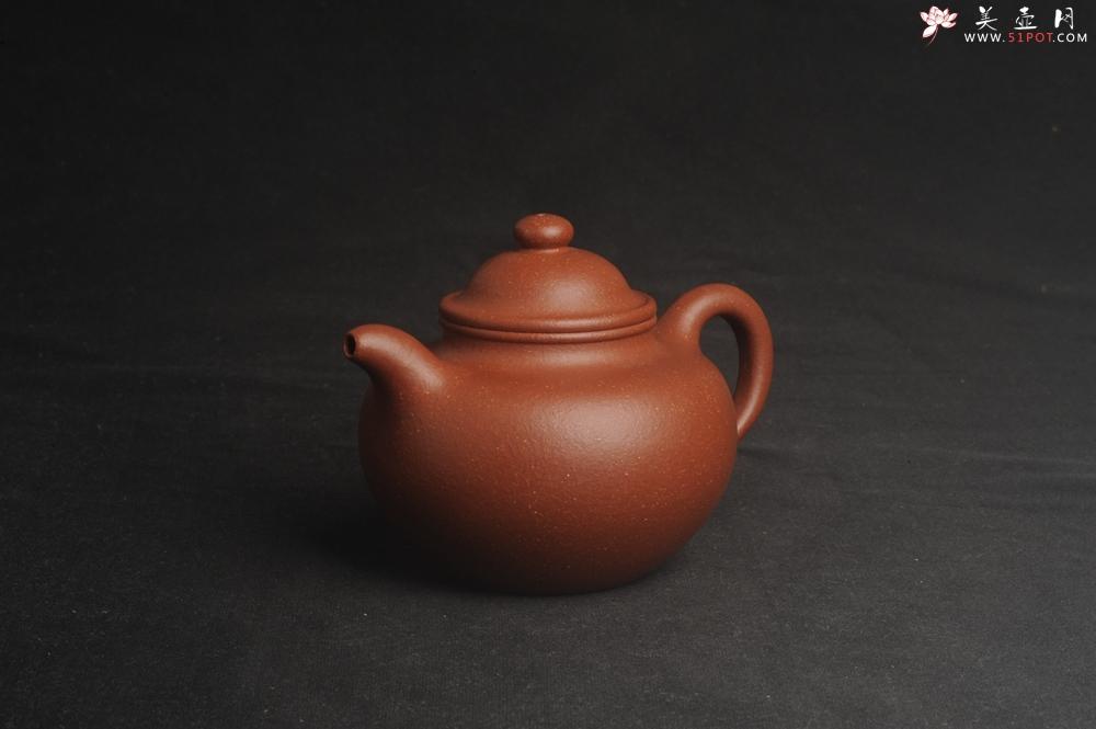 紫砂壶图片:美壶特惠 精致红降坡泥莲子壶 - 宜兴紫砂壶网