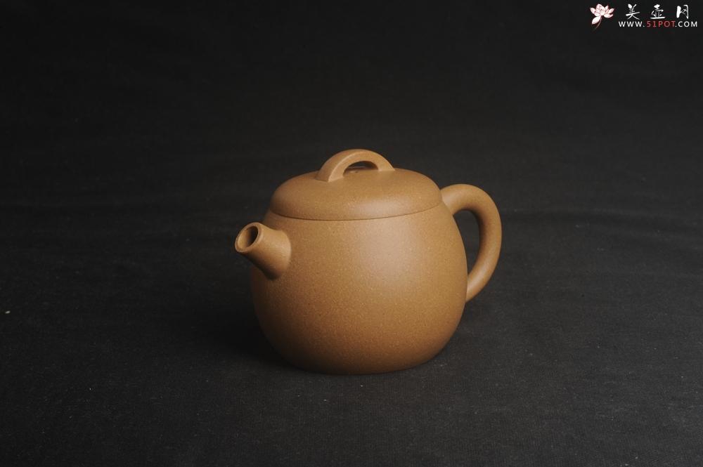 紫砂壶图片:美壶特惠 特好老黄段泥精致大炮巨轮壶 茶人醉爱 - 宜兴紫砂壶网