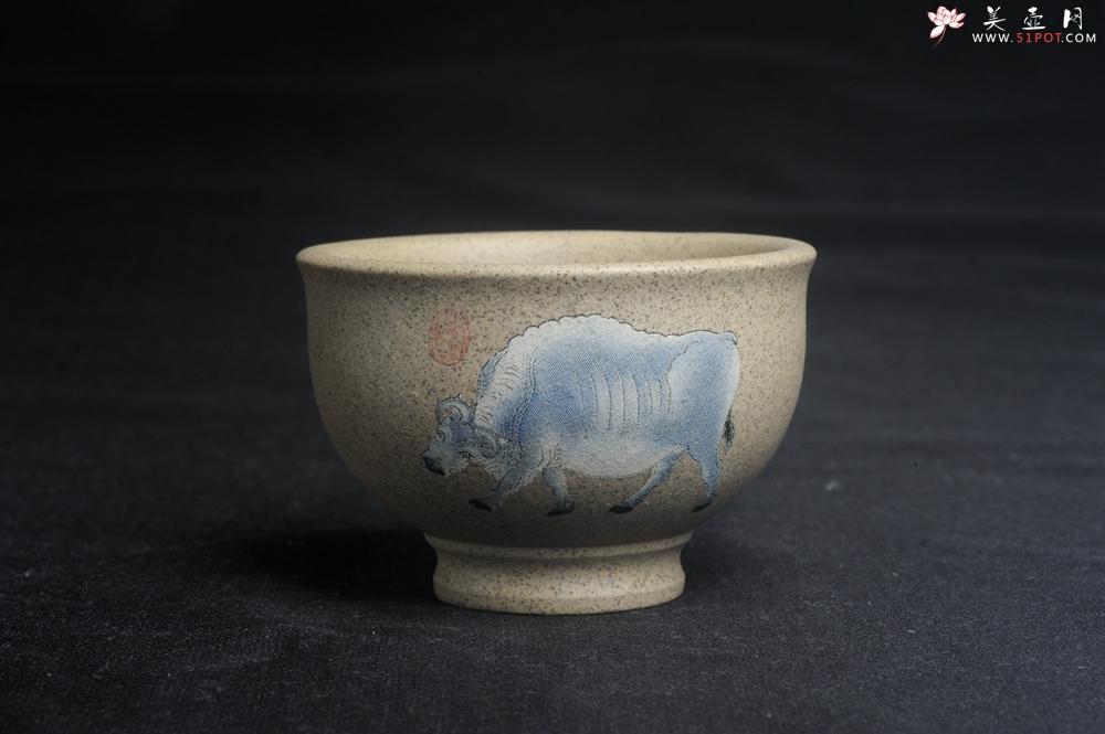 紫砂壶图片:美杯特惠 高温本山段泥 精致吉祥牛主人杯 高性价比 - 宜兴紫砂壶网