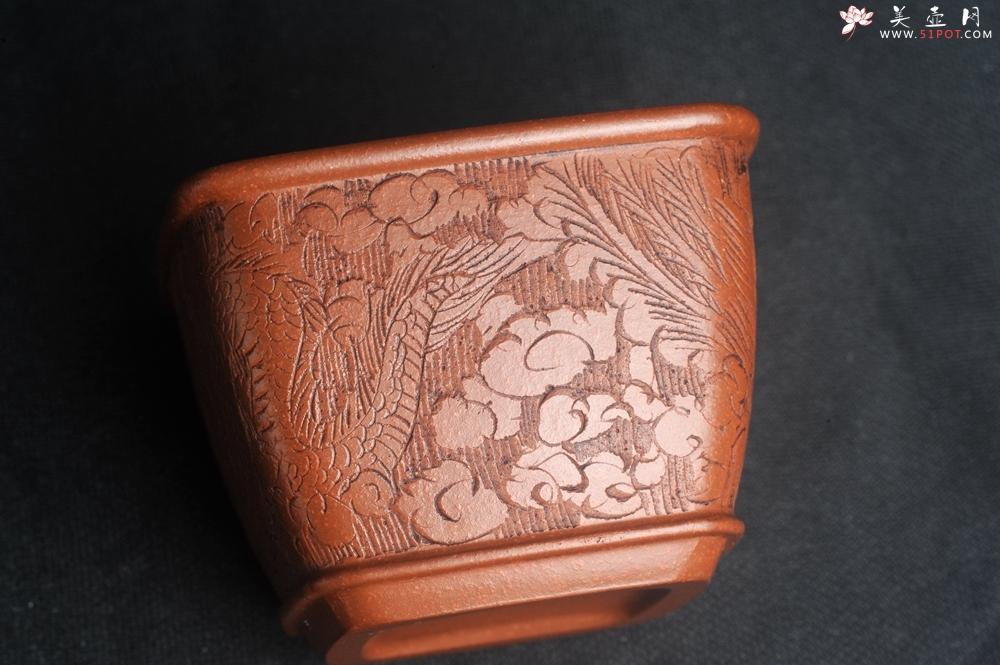 紫砂壶图片:美杯特惠 精致降坡泥四方龙凤杯主人杯 茶杯 特文气 - 宜兴紫砂壶网