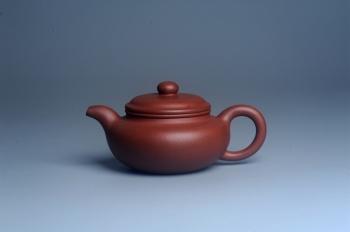 紫砂壶图片:油润底曹青 全手工寿珍仿古 深得老味 做工特好 - 宜兴紫砂壶网