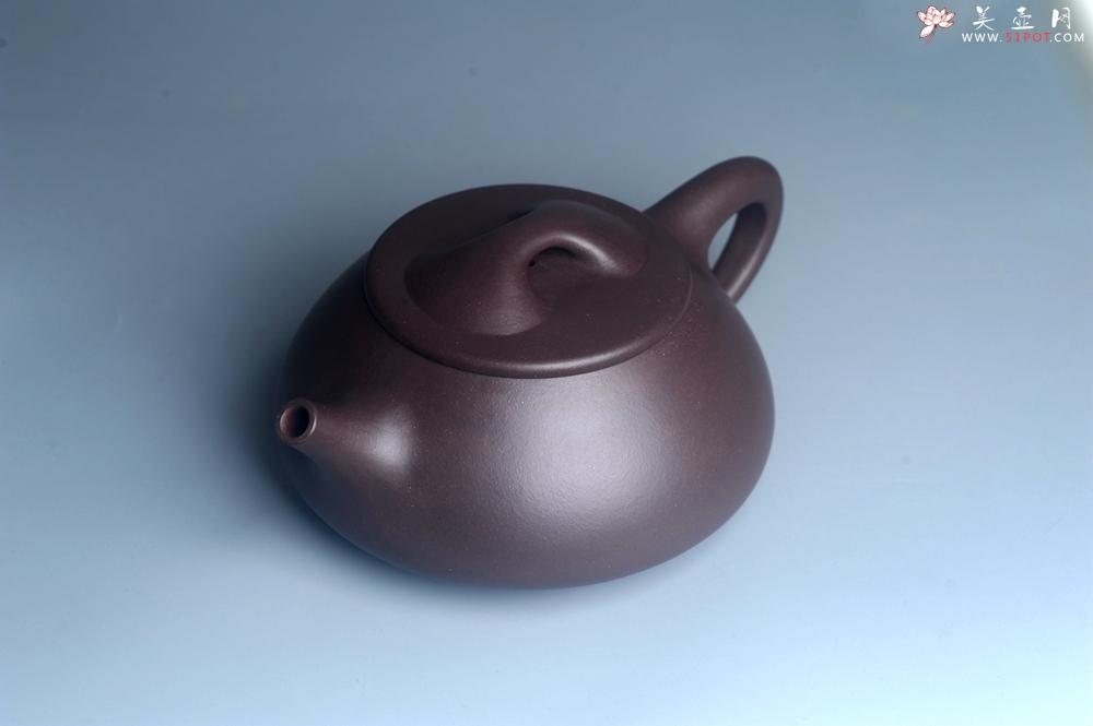 紫砂壶图片:美壶特惠 精致特好紫泥大满瓢 难度大 足足做了一个多星期 - 宜兴紫砂壶网